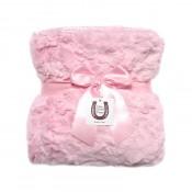 Max Daniel寶寶毯粉紅貂紋