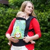 Boba寶寶背巾4G綠袋鼠示意圖