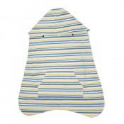IBQ背巾披風保暖罩藍黃條紋