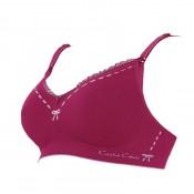 凱莎爾哺乳內衣夢幻款酒紅色胸罩產品圖