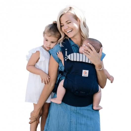 Ergobaby全階段式深藍直紋媽媽寶寶