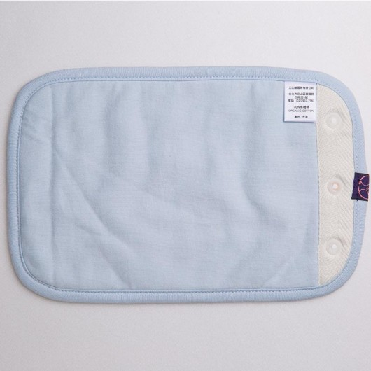 IBQ有機口水巾藍色攤開