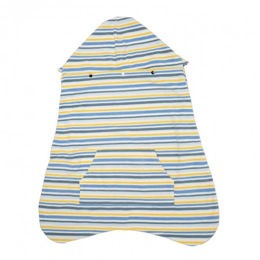 IBQ保暖罩藍黃條紋面