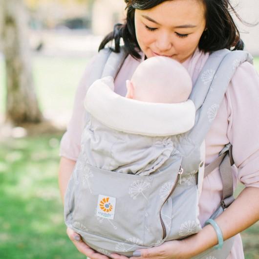 Ergobaby有機款新生兒保護墊示意圖