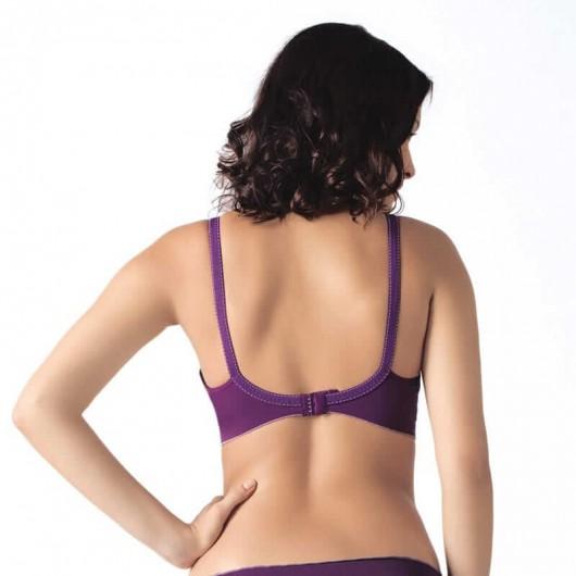 凱莎爾哺乳內衣夢幻款紫色背面示意圖